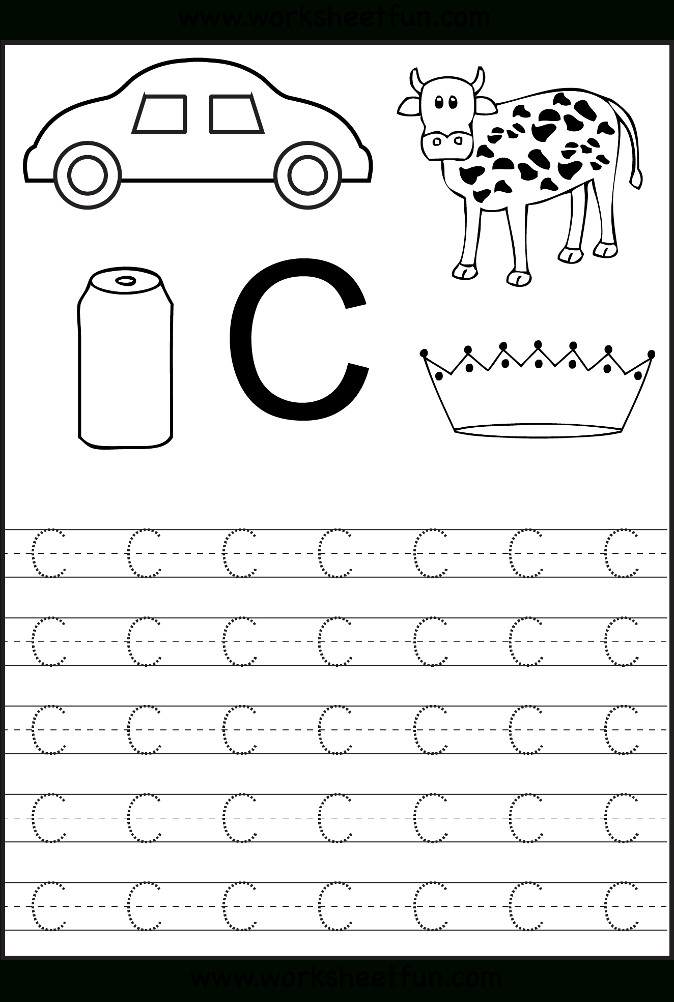 Learning The Letter C | Worksheet | Education | Learning throughout Letter Orientation Worksheets