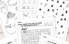 Letter A Worksheets Free Printables