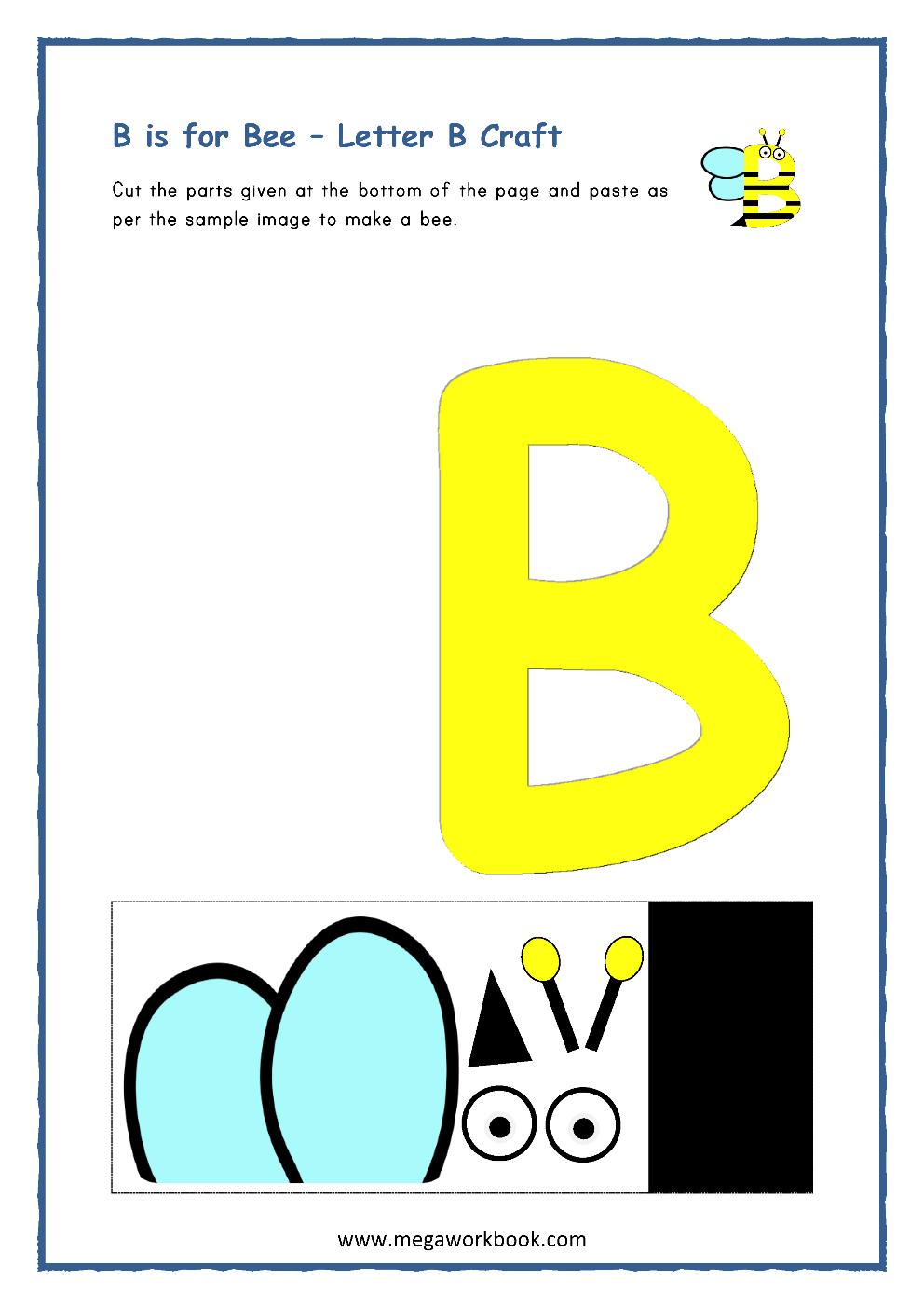 Letter B Activities - Letter B Worksheets - Letter B with regard to Letter B Worksheets Cut And Paste