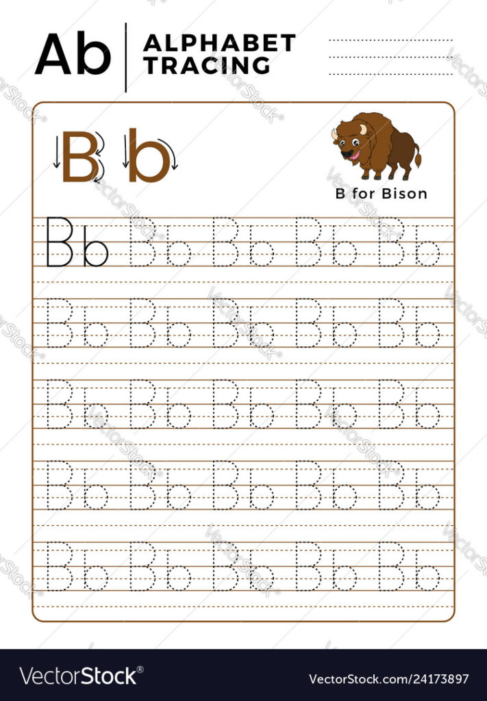 Letter B Alphabet Tracing Book With Example And With Regard To Alphabet Tracing With Arrows