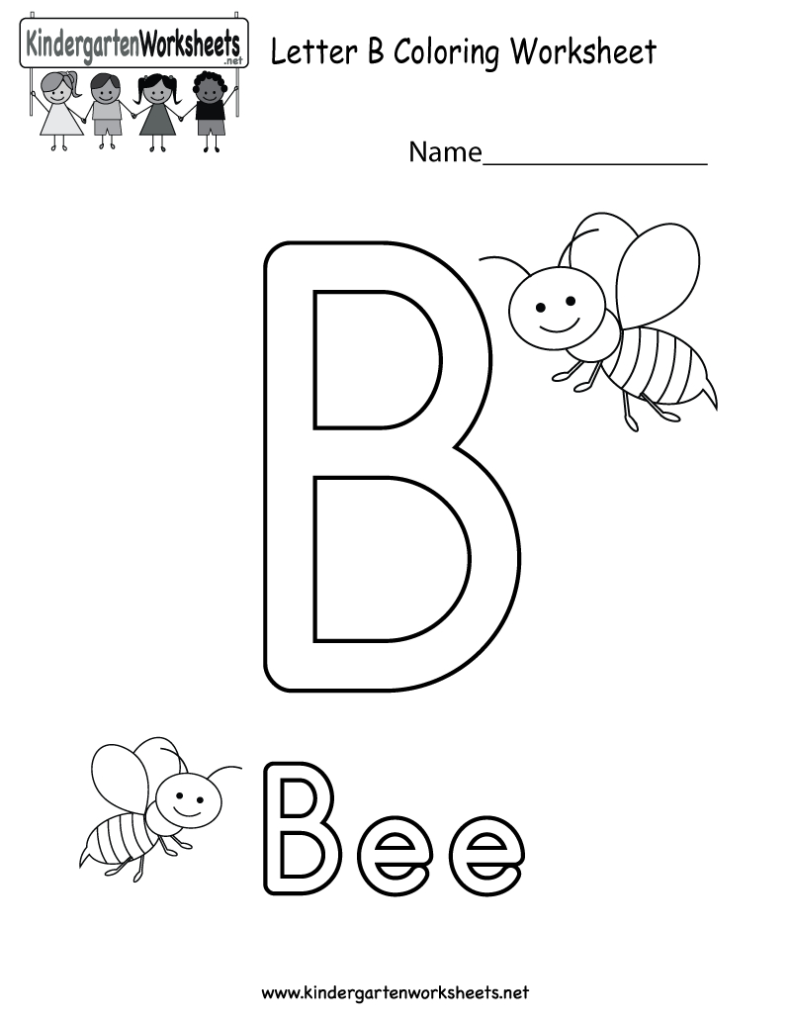 Letter B Coloring Worksheet. This Would Be A Fun Coloring With Letter B Worksheets For Toddlers
