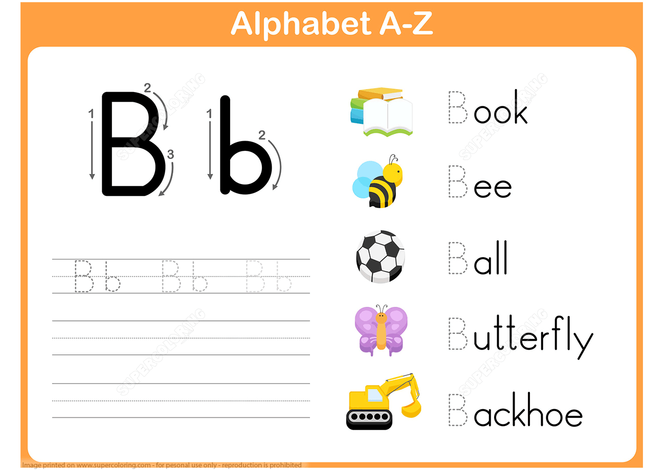 Letter B Tracing Worksheet | Free Printable Puzzle Games regarding Letter Tracing Games