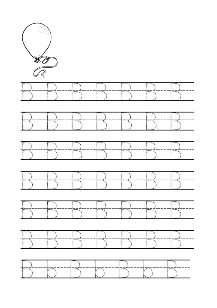 Letter B Tracing Worksheets For Preschool …   Preschool In Alphabet B Tracing