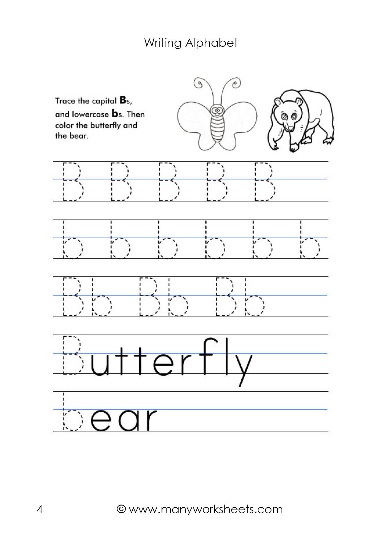 Letter B Worksheet – Tracing And Handwriting pertaining to Alphabet Tracing Uppercase And Lowercase