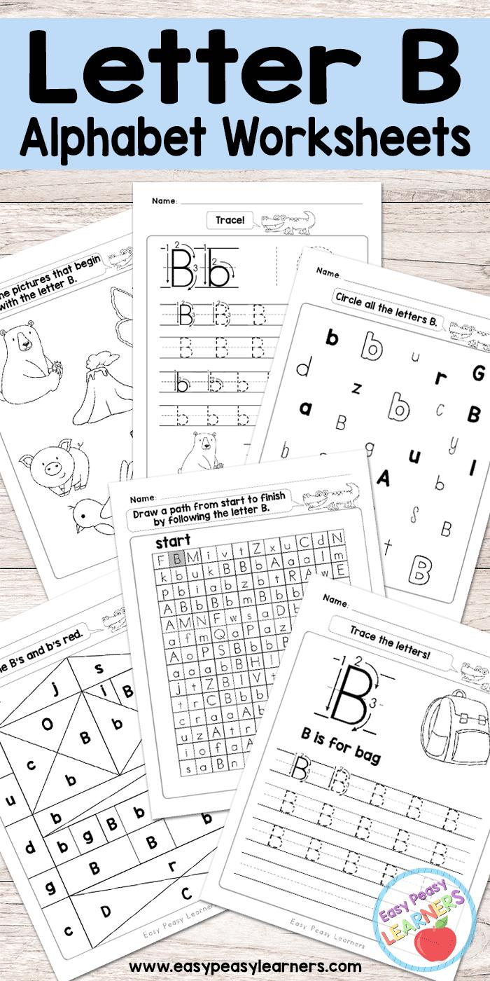 Letter B Worksheets - Alphabet Series - Easy Peasy Learners inside Letter Worksheets B