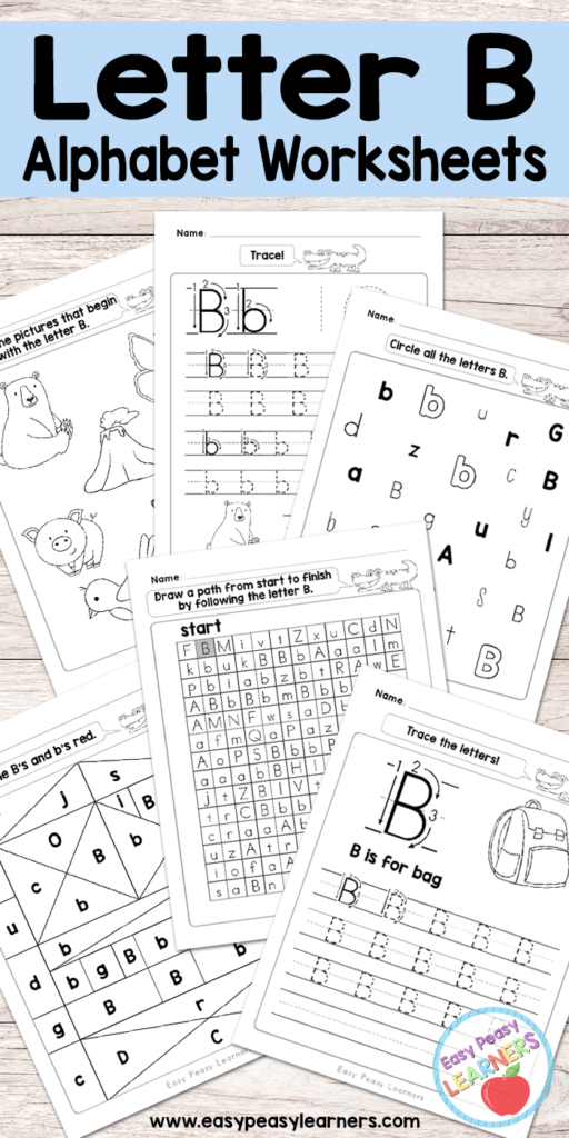 Letter B Worksheets   Alphabet Series   Easy Peasy Learners Pertaining To Letter B Worksheets Free Printables