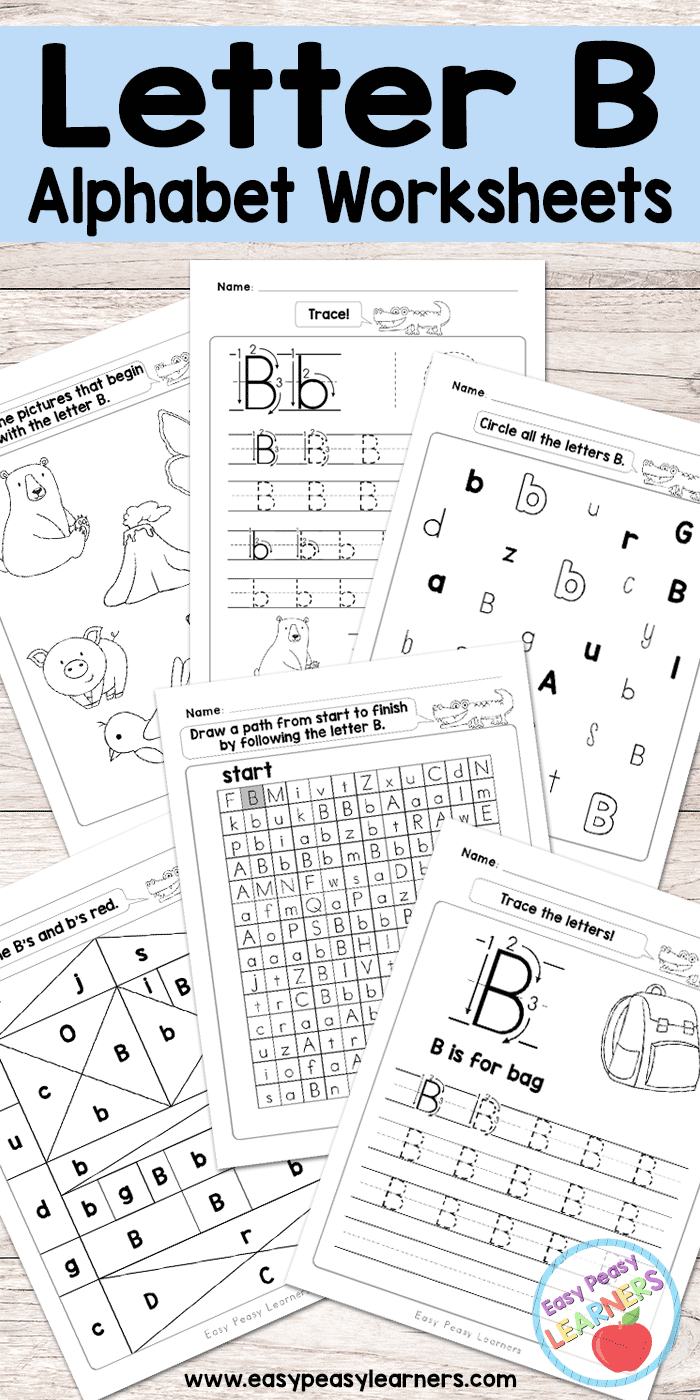 Letter B Worksheets - Alphabet Series - Easy Peasy Learners pertaining to Letter B Worksheets Free Printables
