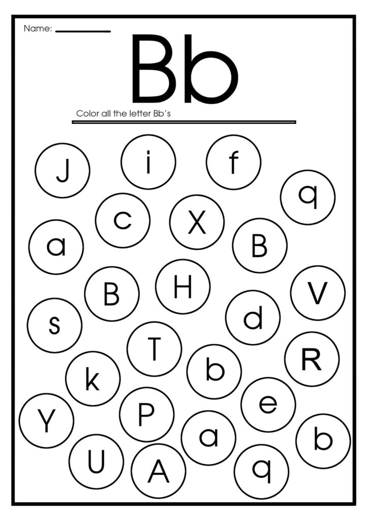 Letter B Worksheets, Flash Cards, Coloring Pages Throughout Letter Worksheets B