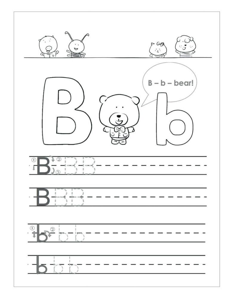 Letter B Worksheets To Printable. Letter B Worksheets Inside Letter B Worksheets Free Printables
