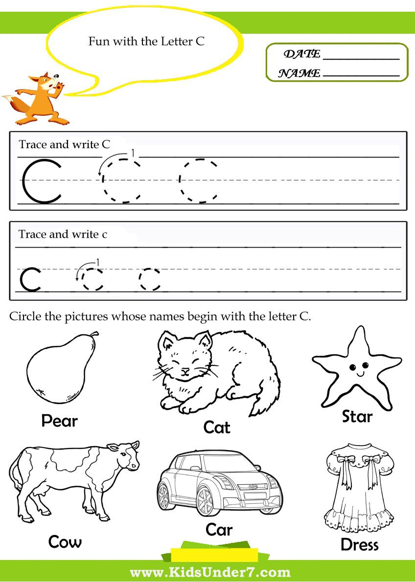 Letter C Worksheets For Preschool - Google Search | Letter throughout Letter C Worksheets For Pre K