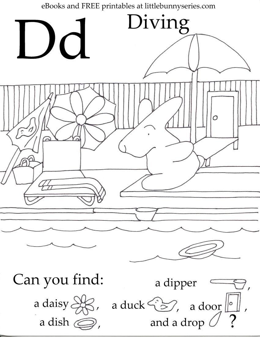 Letter D Seek And Find Pdf | Preschool Letters, Fun in Letter D Worksheets Pdf