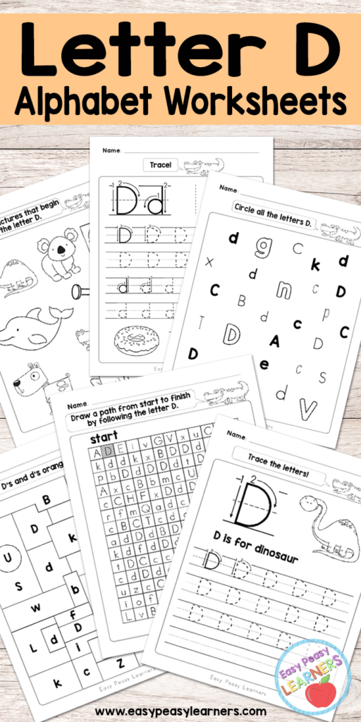 Letter D Worksheets   Alphabet Series   Easy Peasy Learners Within Letter D Worksheets For Kindergarten
