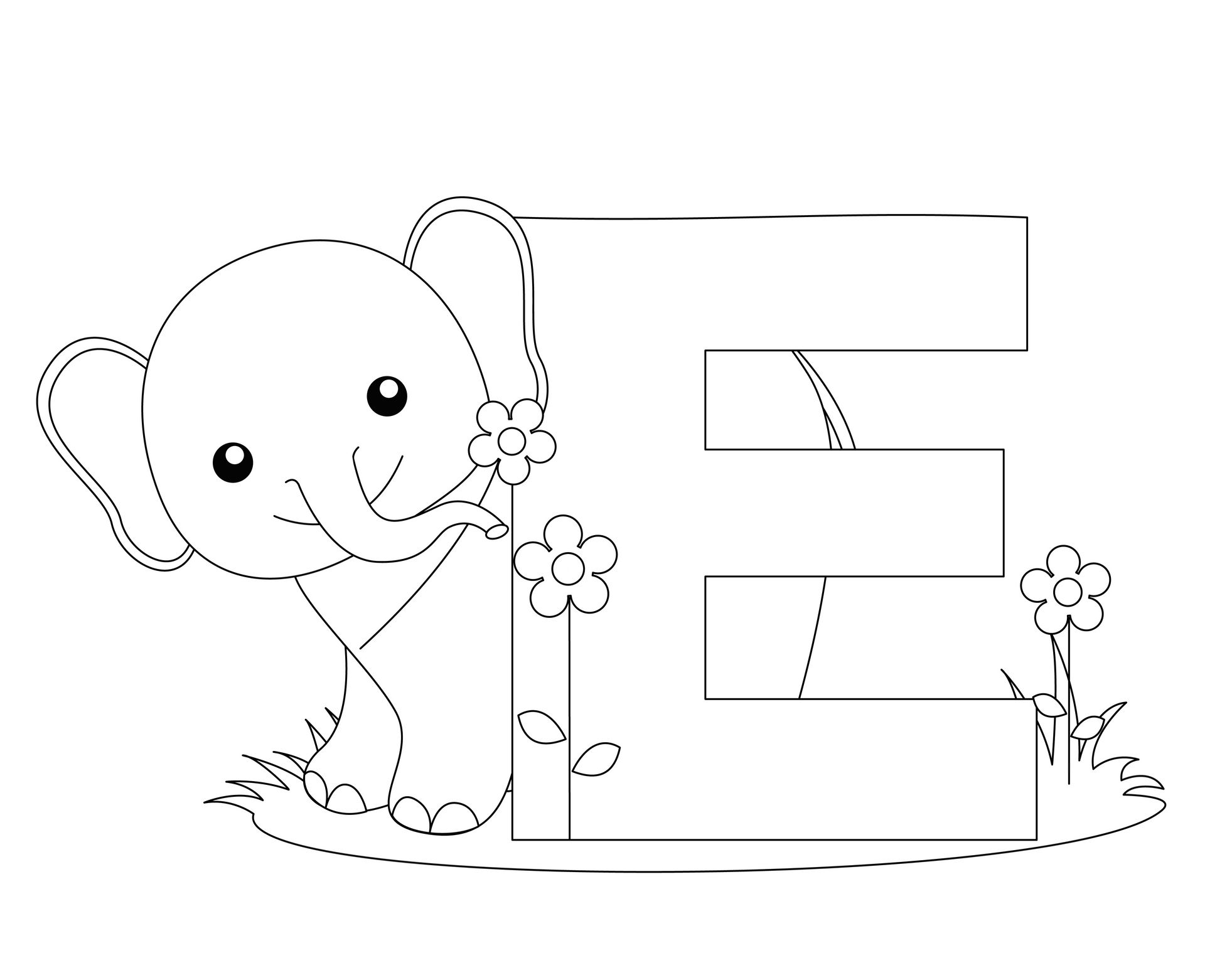 Letter E Coloring Pages | Abc Coloring Pages, Elephant inside Letter E Worksheets Coloring