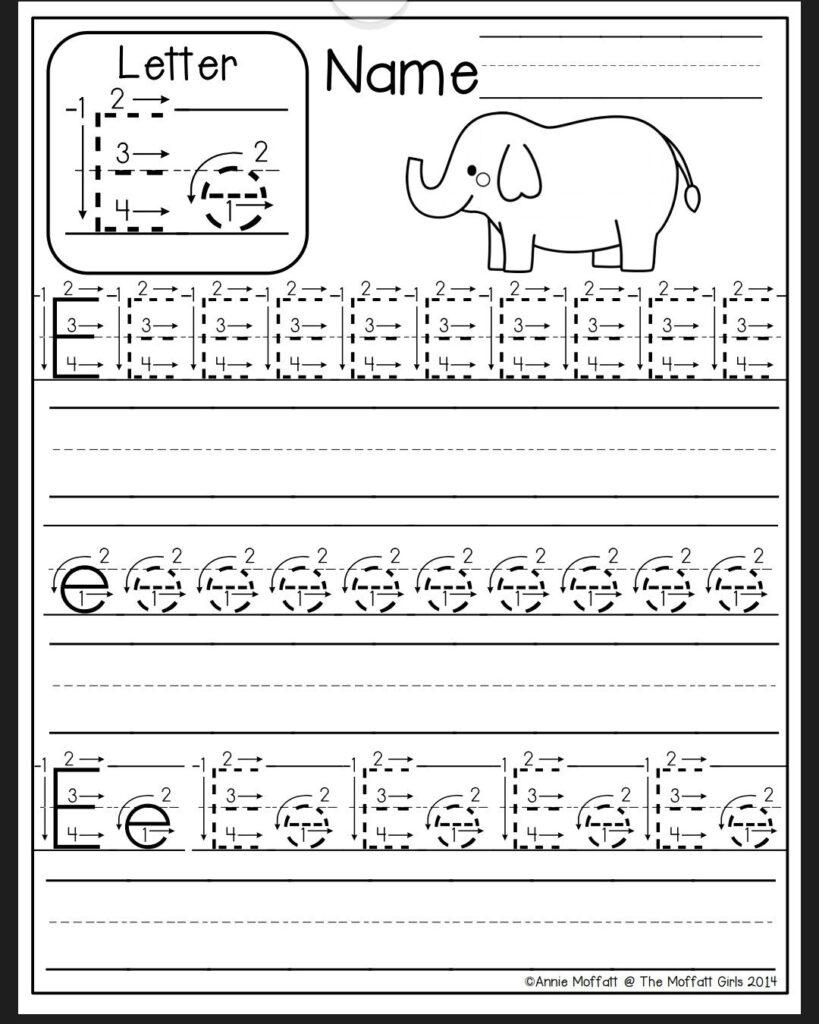 Letter E Worksheet | Alphabet Writing Practice, Alphabet With Letter E Worksheets For Pre K