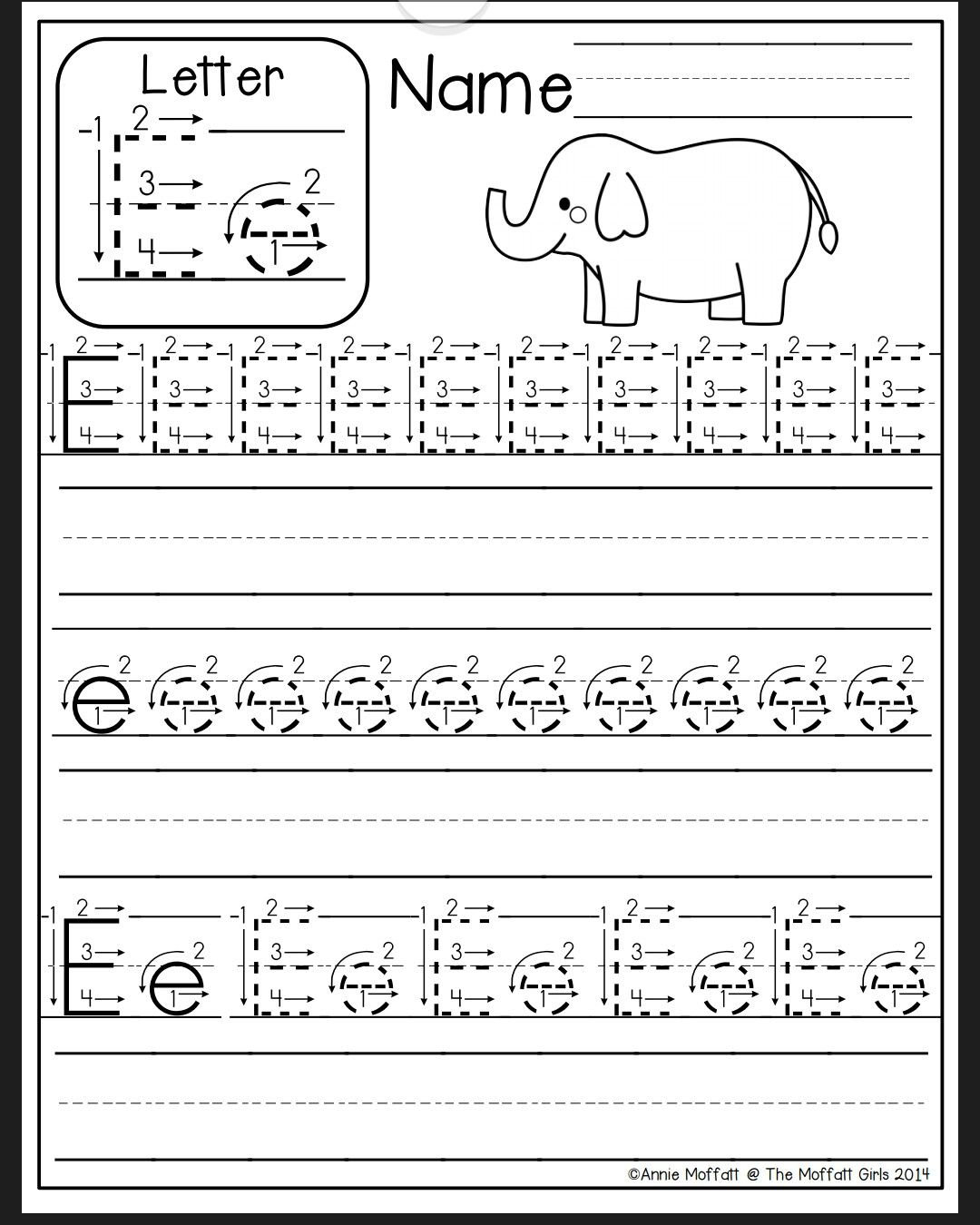 Letter E Worksheet | Alphabet Writing Practice, Alphabet with Letter E Worksheets For Pre K