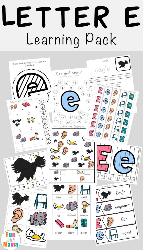 Letter E Worksheets + Activities   Fun With Mama With Regard To Letter E Worksheets Pdf