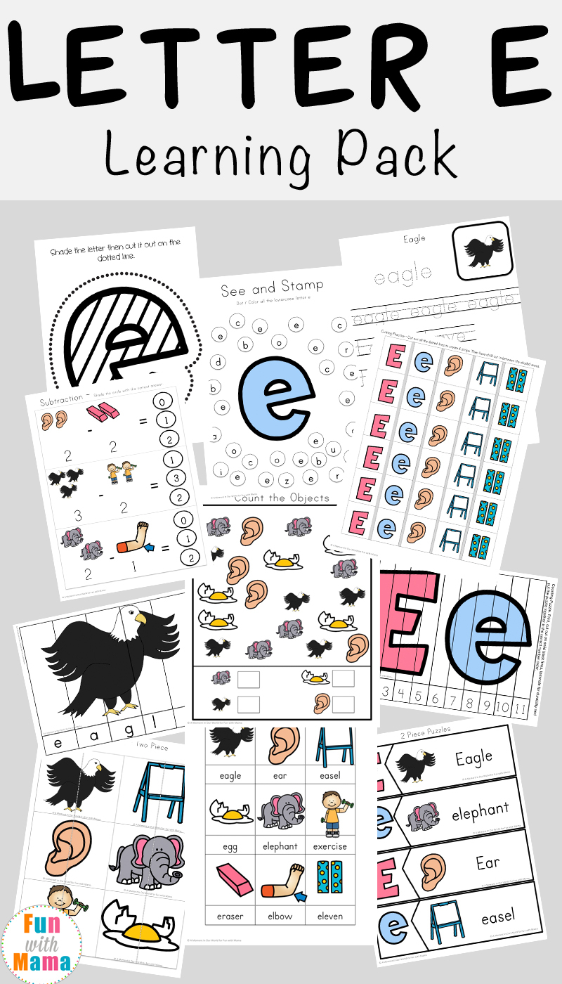 Letter E Worksheets + Activities - Fun With Mama with regard to Letter E Worksheets Pdf