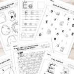 Letter E Worksheets   Alphabet Series   Easy Peasy Learners With Regard To Letter E Worksheets For Nursery