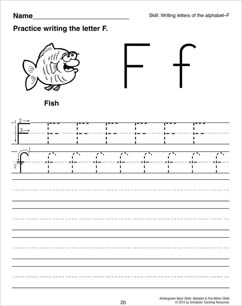 Letter F Tracing Worksheet | Writing Worksheets, Alphabet In Letter F Tracing Worksheets Preschool