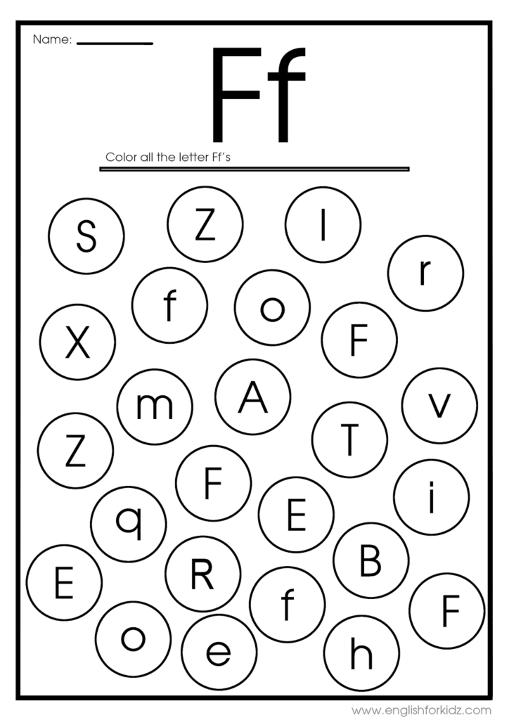Letter F Worksheets, Flash Cards, Coloring Pages With Letter F Worksheets Coloring
