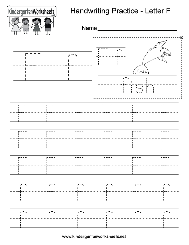 Letter F Writing Practice Worksheet. This Series Of with Letter F Worksheets For Kindergarten