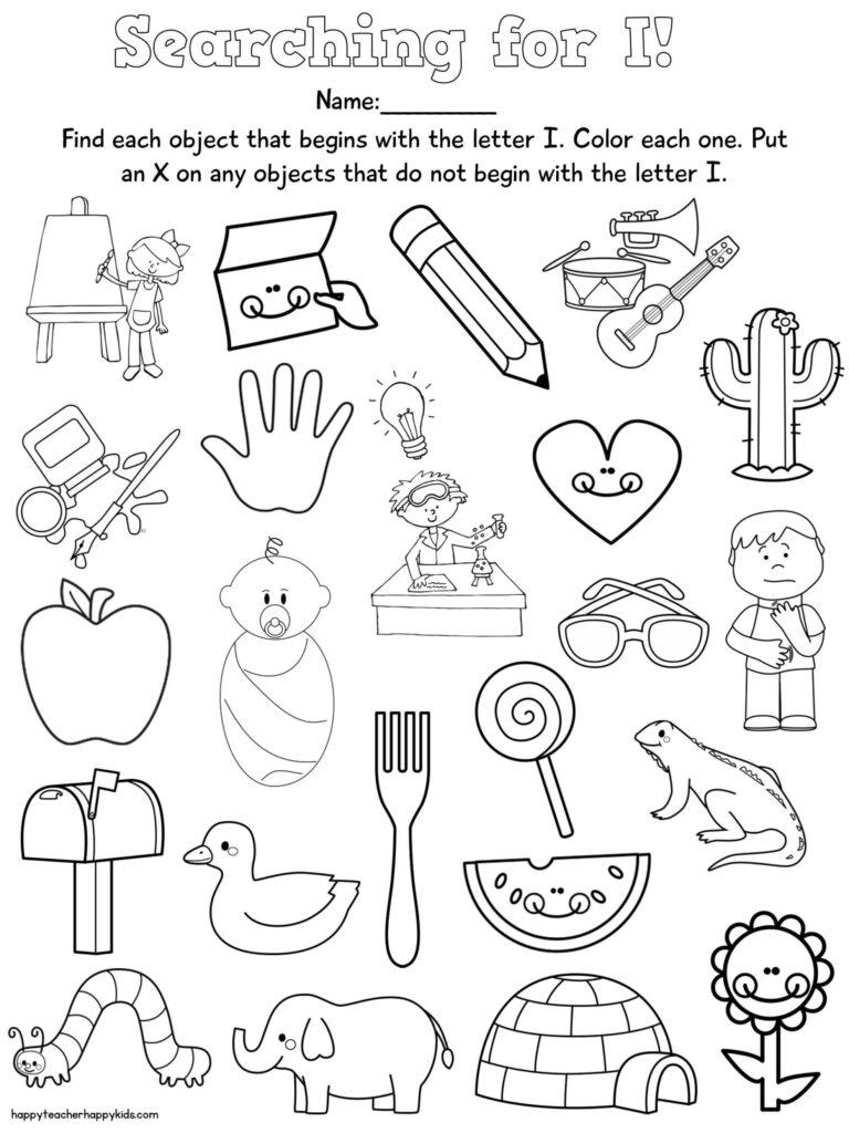 Letter Free Preschool Learning Letters Nursery Rhymes Intended For Letter F Worksheets Cut And Paste