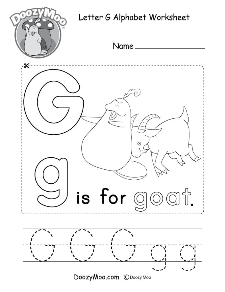 Letter G Alphabet Activity Worksheet   Doozy Moo For Letter G Tracing Sheet