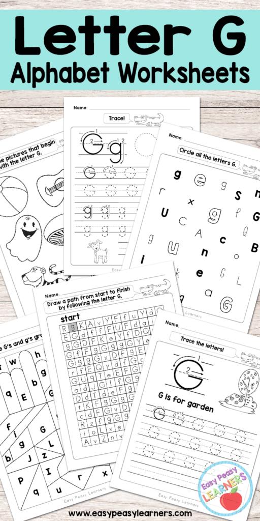 Letter G Worksheets   Alphabet Series   Easy Peasy Learners Throughout Letter G Worksheets For Kindergarten