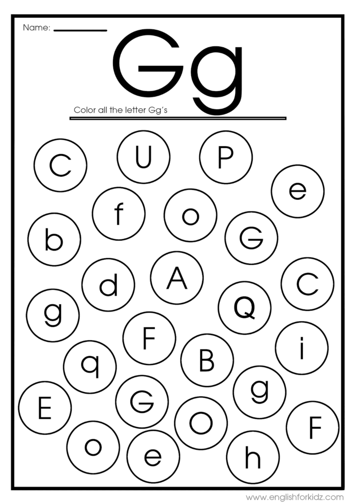 Letter G Worksheets, Flash Cards, Coloring Pages With Letter G Worksheets Printable