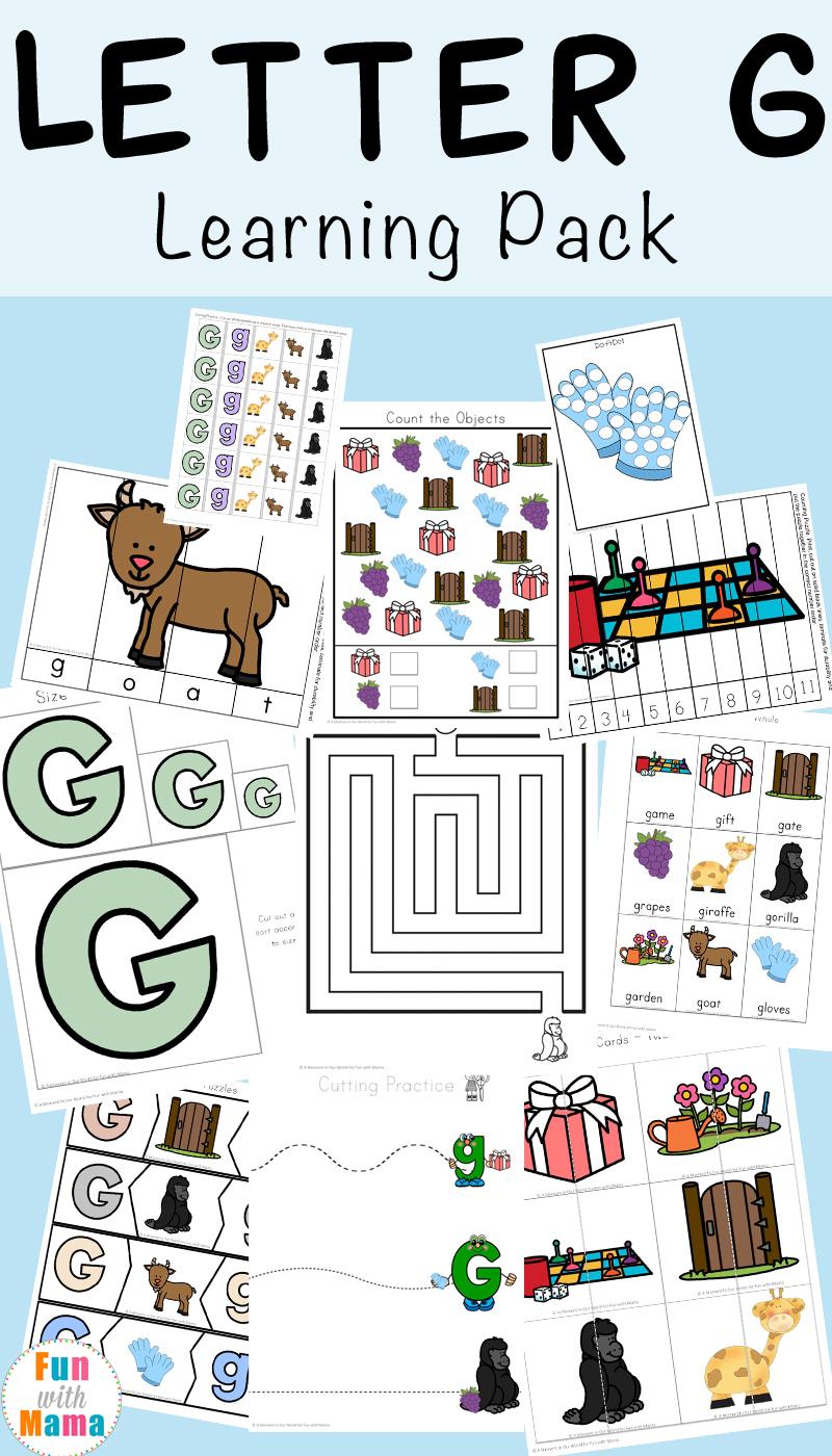 Letter G Worksheets - Fun With Mama inside Letter G Worksheets For Preschool Pdf