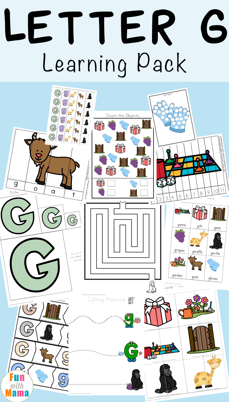 Letter G Worksheets - Fun With Mama within Letter G Worksheets For Kindergarten Pdf