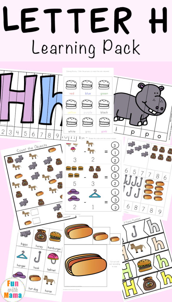 Letter H Worksheets + Activities   Fun With Mama Regarding Letter H Tracing Activity