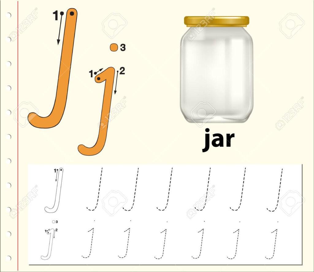 Letter J Tracing Alphabet Worksheets Illustration Regarding Letter J Alphabet Worksheets