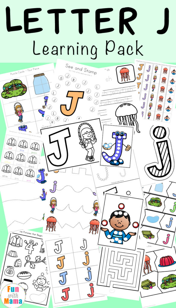 Letter J Worksheets + Activities   Fun With Mama Within Letter J Worksheets For Grade 1
