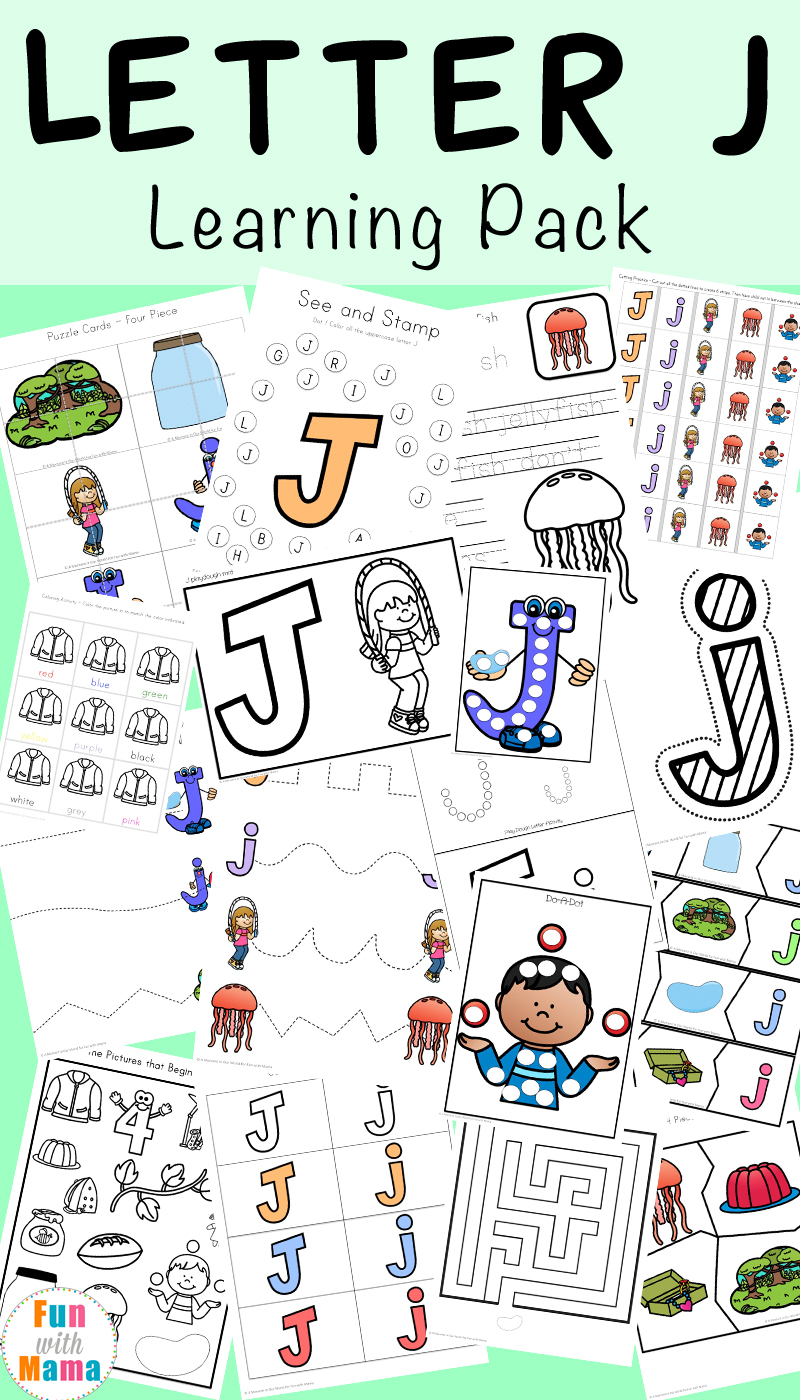 Letter J Worksheets + Activities - Fun With Mama within Letter J Worksheets For Grade 1