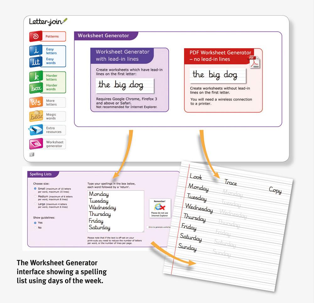Letter-Join Worksheets inside Letter Join Worksheets