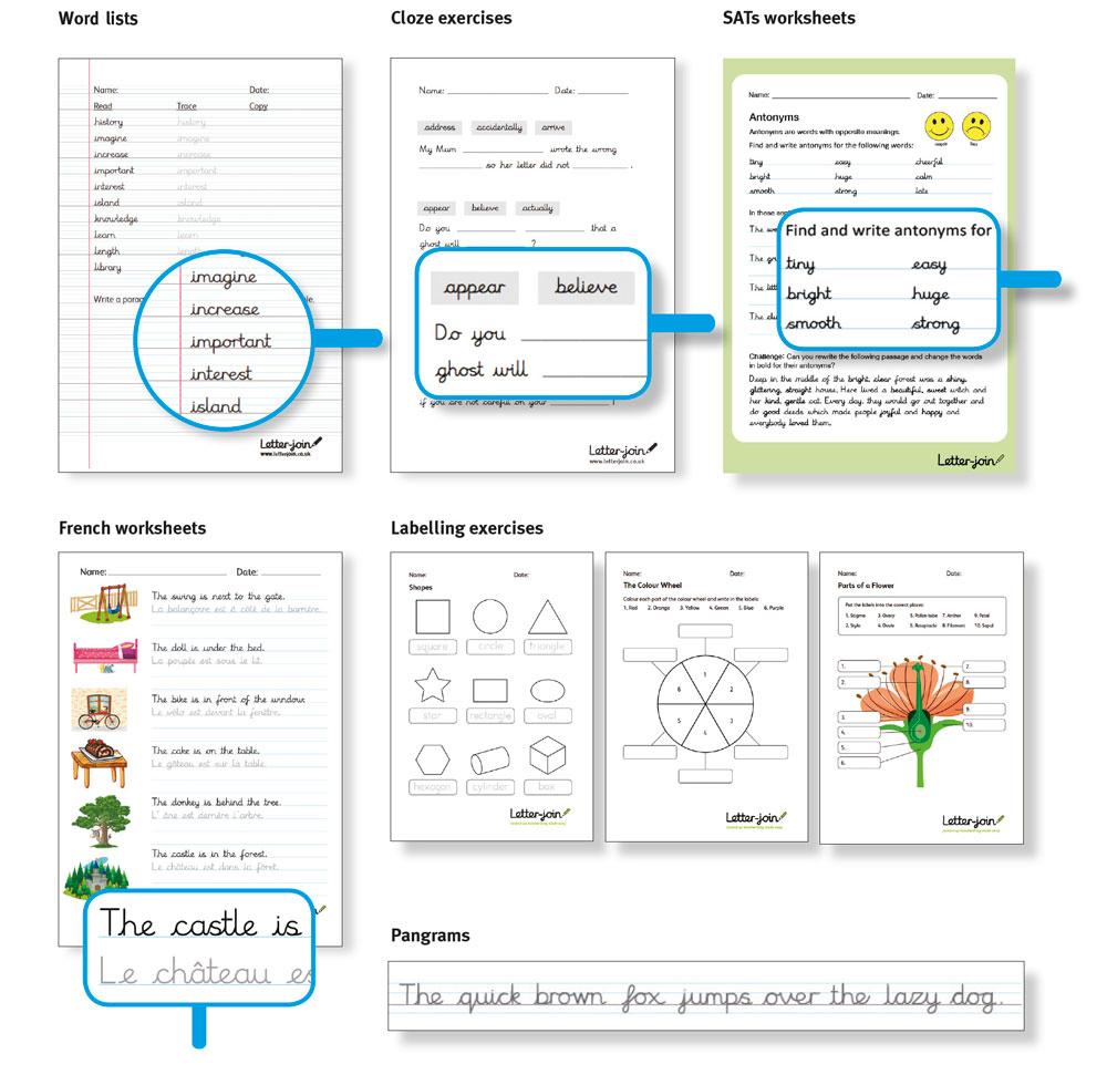 Letter-Join Worksheets within Letter Join Worksheets