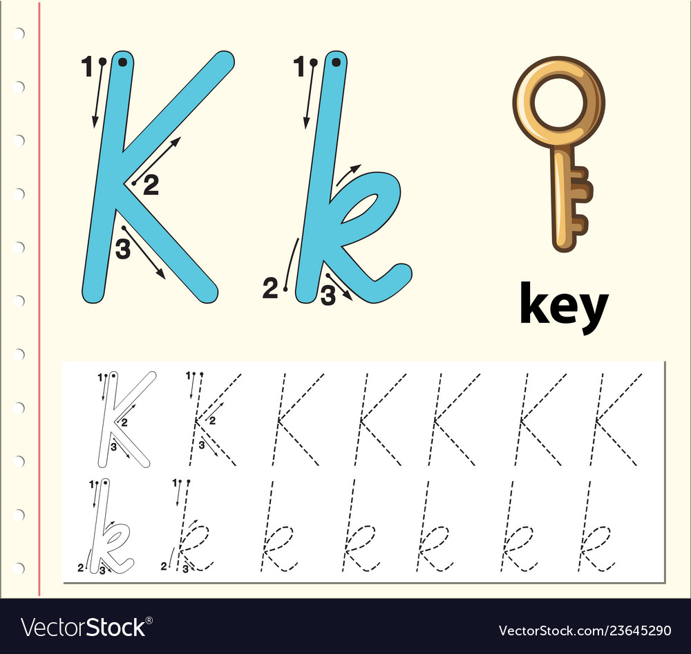 Letter K Tracing Alphabet Worksheets intended for K Letter Tracing