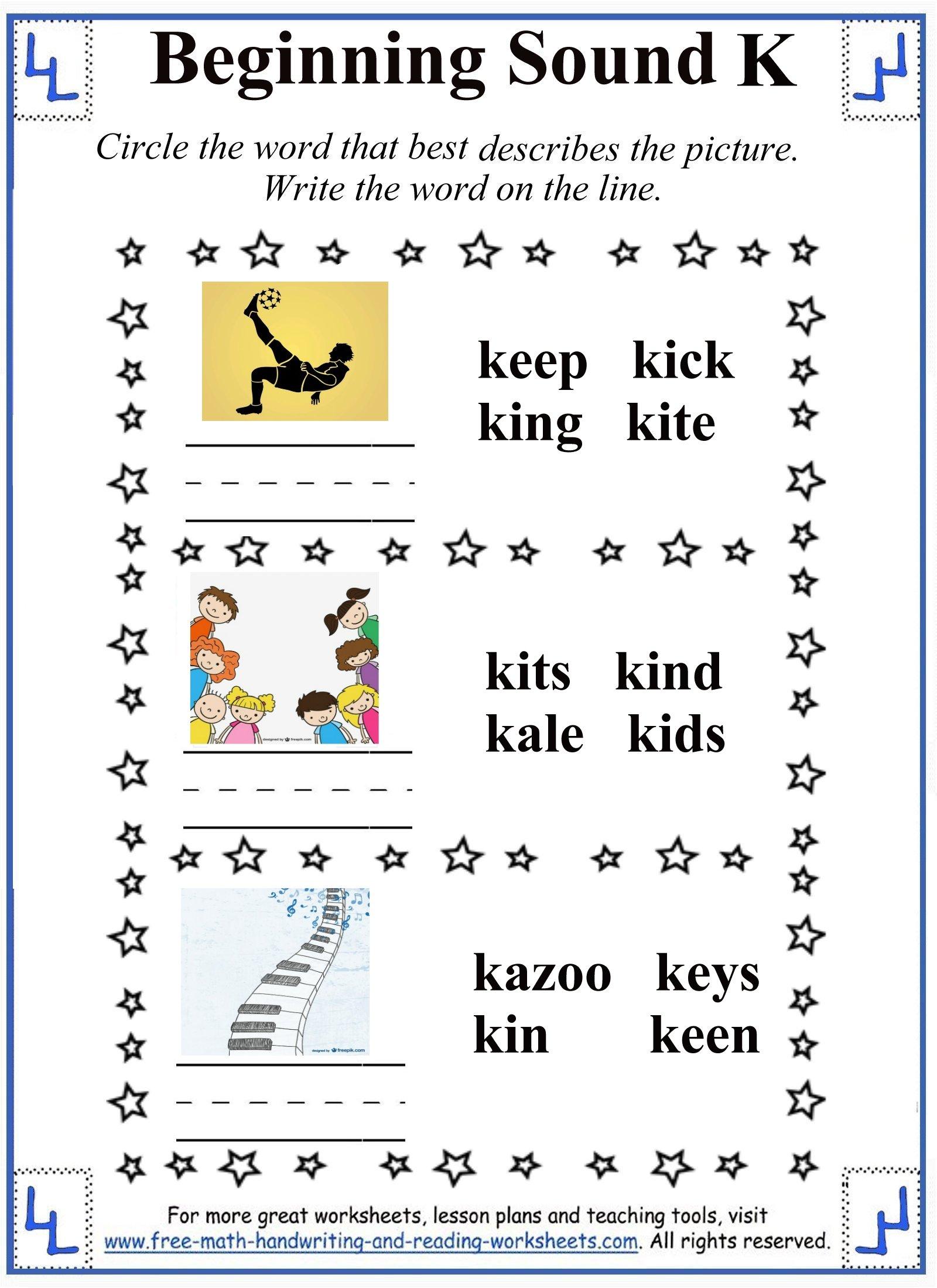 Letter K Worksheets & Activities regarding Letter K Worksheets 1St Grade