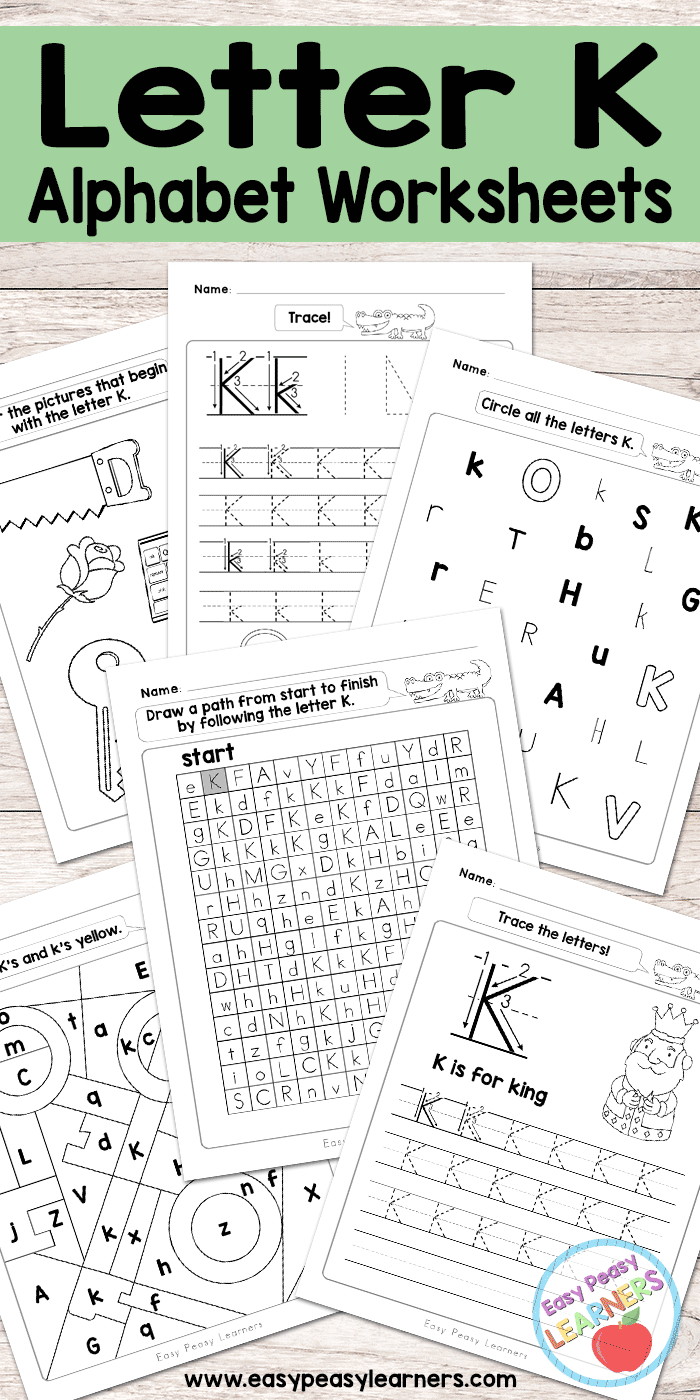 Letter K Worksheets - Alphabet Series - Easy Peasy Learners in Letter K Worksheets For Prek