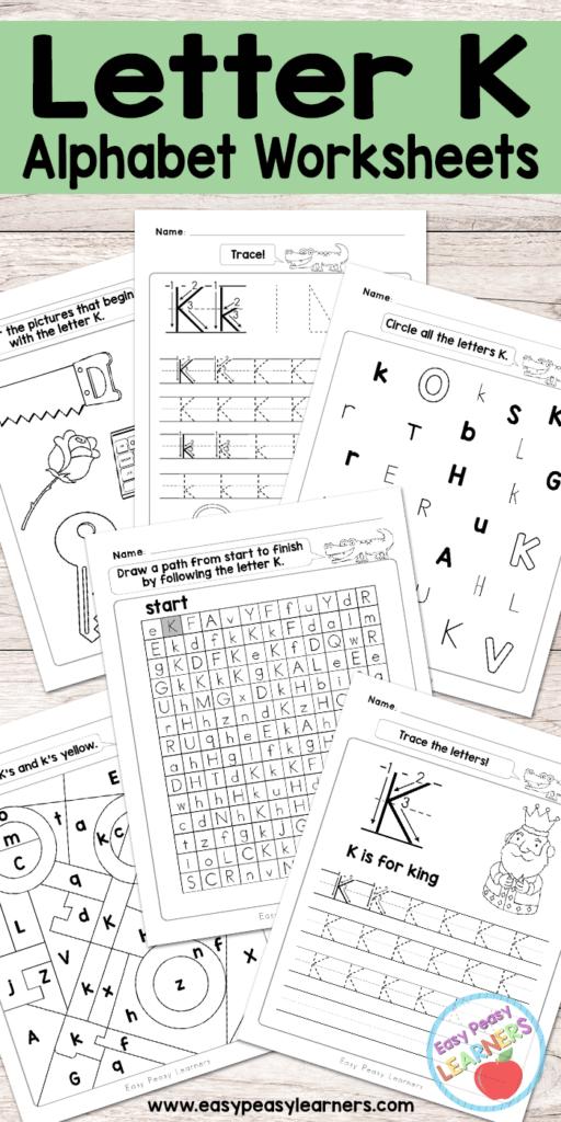 Letter K Worksheets   Alphabet Series   Easy Peasy Learners Regarding Letter K Worksheets Free