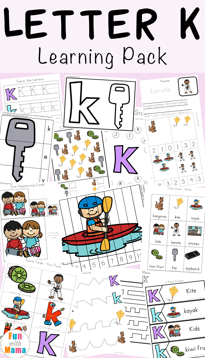 Letter K Worksheets - Fun With Mama in Letter K Worksheets For Prek