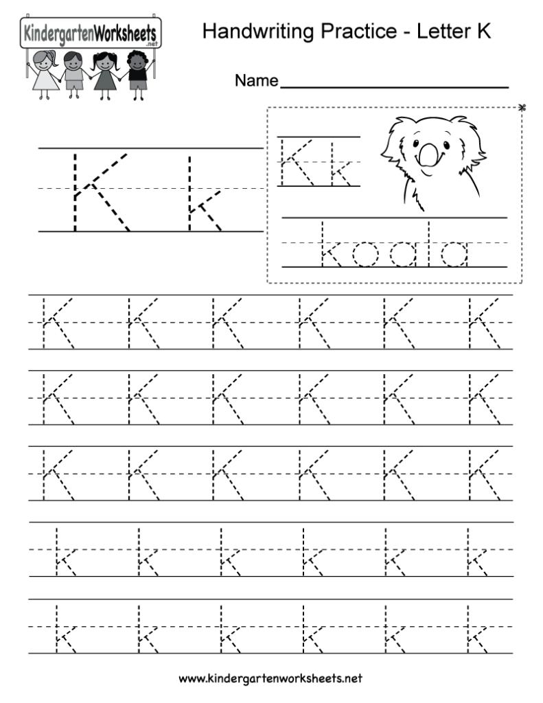 Letter K Writing Practice Worksheet. This Series Of Regarding Alphabet Worksheets For Toddlers