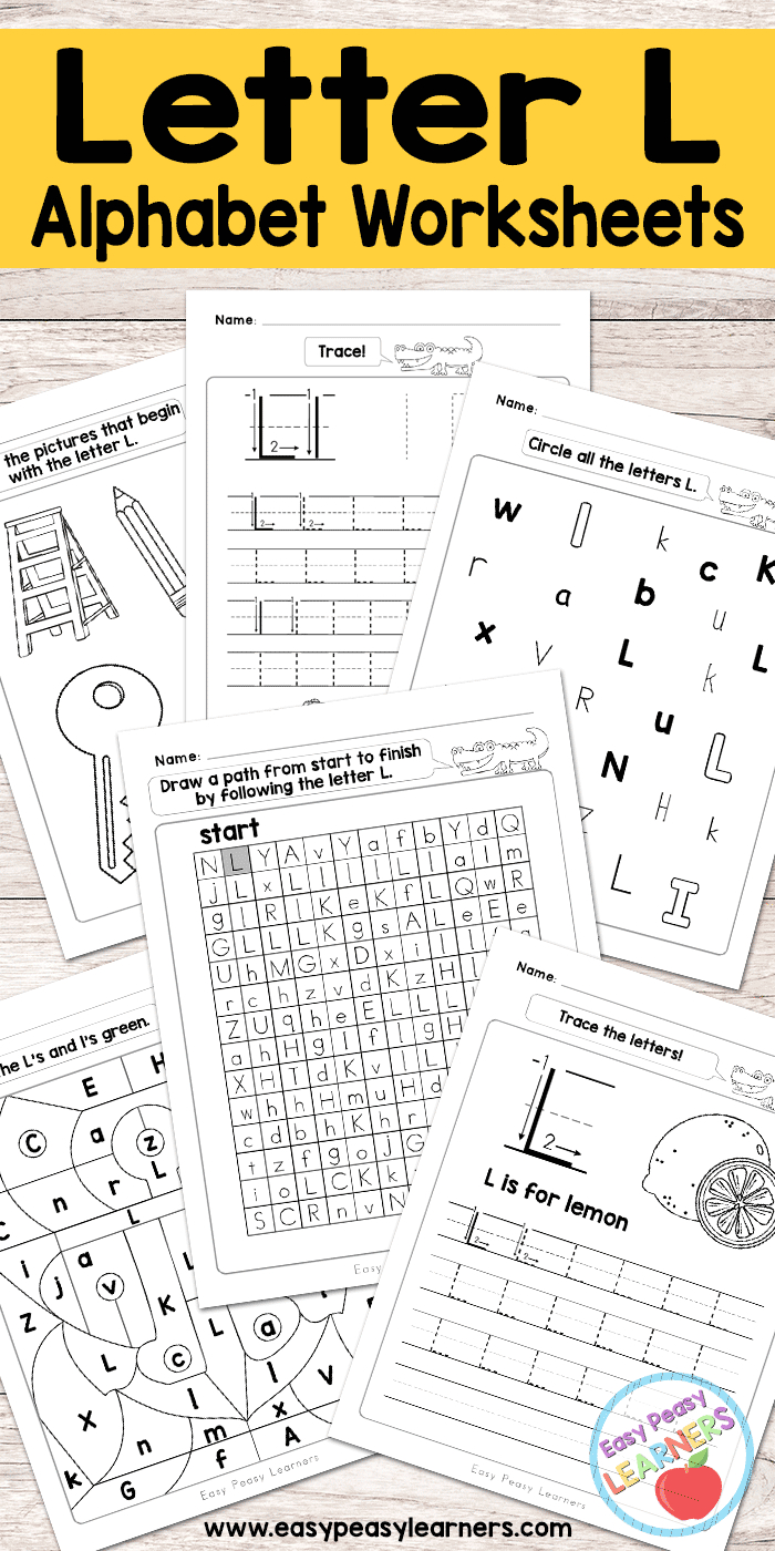 Letter L Worksheets - Alphabet Series - Easy Peasy Learners regarding Letter L Worksheets For Nursery