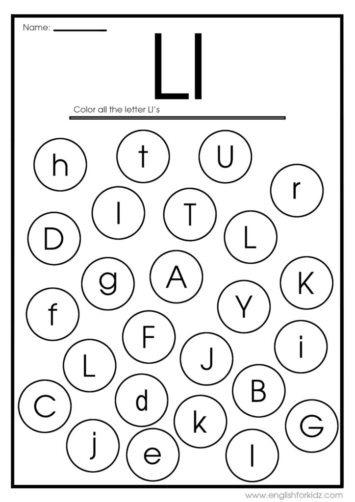 Letter L Worksheets, Flash Cards, Coloring Pages Pertaining To Letter E Worksheets Coloring