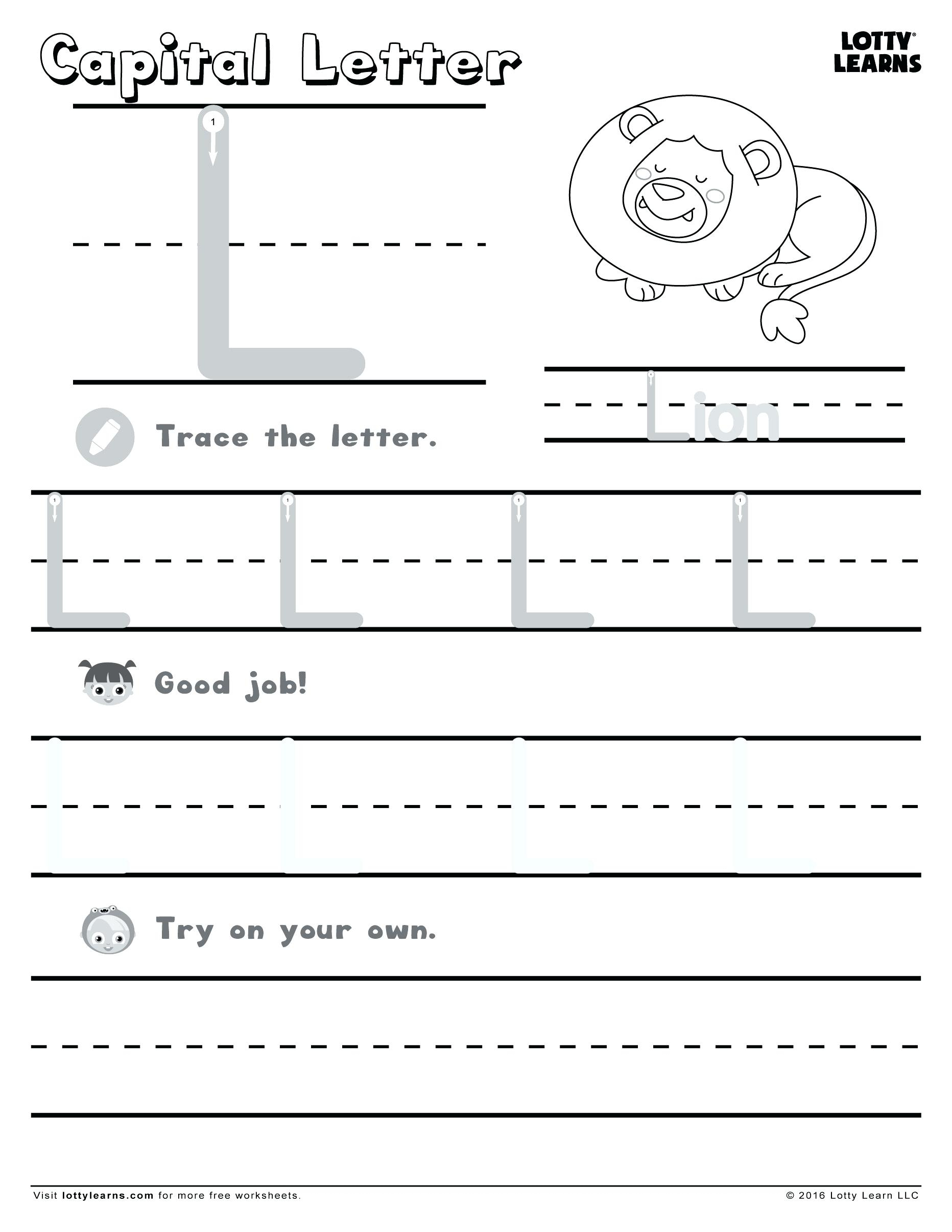 Letter L Worksheets For Kindergarten Letter L Activities For within Letter L Worksheets For Nursery