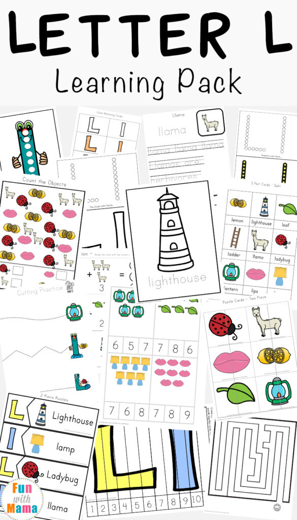 Letter L Worksheets + Words   Fun With Mama With Regard To Letter L Worksheets For Kindergarten Pdf