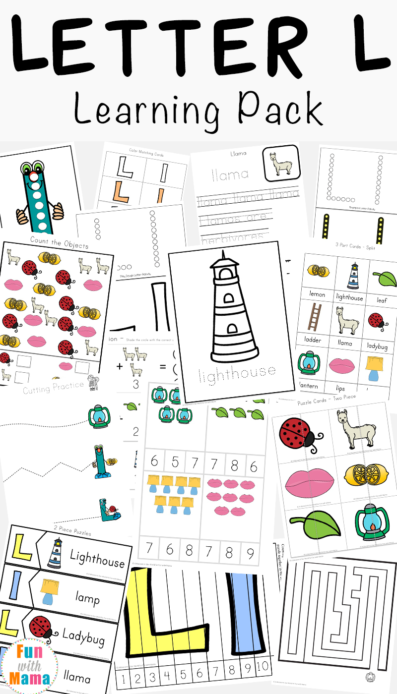 Letter L Worksheets + Words - Fun With Mama with regard to Letter L Worksheets For Kindergarten Pdf