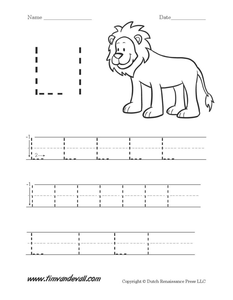 Letter La Worksheet | Kids Activities For Letter L Worksheets For Nursery