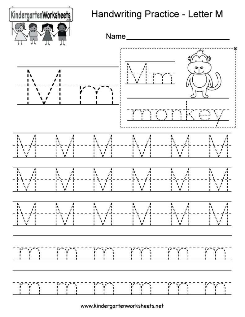 Letter M Tracing Worksheets Preschool Worksheet Carnival Regarding Letter M Tracing Preschool